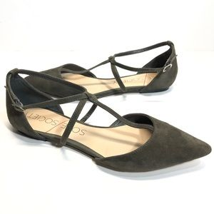 Sole Society Chandler Gery T Strap Flats